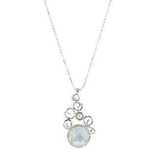 The Roman Glass Company - ネックレス/エディー×パール(パティナ)【予約注文】