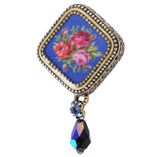 Michal Negrin - ブローチ/SQUARE CAMEO BROOCH(ブルー)