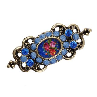 Michal Negrin - ブローチ/ROSES CAMEO BROOCH(ブルー)