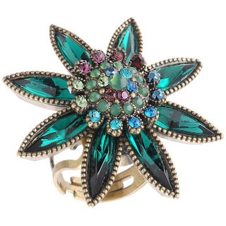 <img class='new_mark_img1' src='https://img.shop-pro.jp/img/new/icons5.gif' style='border:none;display:inline;margin:0px;padding:0px;width:auto;' />Michal Negrin - リング/EDELWEISS RING(グリーン)