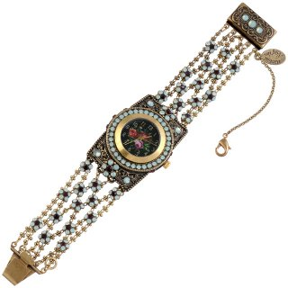 <img class='new_mark_img1' src='https://img.shop-pro.jp/img/new/icons24.gif' style='border:none;display:inline;margin:0px;padding:0px;width:auto;' />10%OFF Michal Negrin - ジュエリーウォッチ/ANNABELLE WRIST WATCH(ミント×バーガンディ)