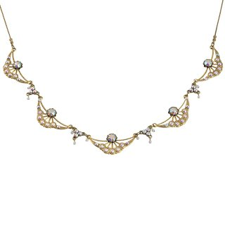 Michal Negrin - ネックレス/ARCH NECKLACE(ホワイト・オーロラ)