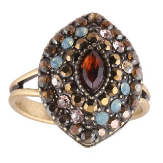 <img class='new_mark_img1' src='https://img.shop-pro.jp/img/new/icons5.gif' style='border:none;display:inline;margin:0px;padding:0px;width:auto;' />Michal Negrin - リング/EMUNA RING(ブラウンマルチ×ミント)