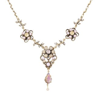 Michal Negrin - ネックレス/SWEET DAISY CHAINS NECKLACE(ミルキー)
