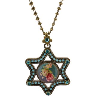Michal Negrin - ネックレス/ESTER CAMEO NECKLACE(ローズ:ターコイズ)