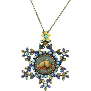 Michal Negrin - ネックレス/DAFNA CAMEO NECKLACE(鳩:ブルー×イエロー)