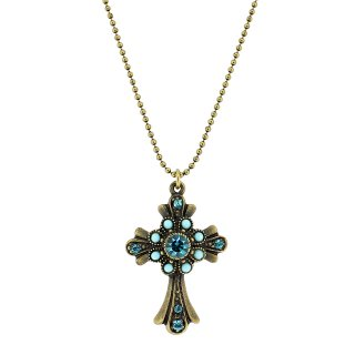 Michal Negrin - ネックレス/CROSS NECKLACE(ターコイズ)