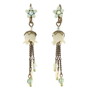 Michal Negrin - イヤリング・ピアス/LILY BEADS EARRINGS(グリーン)