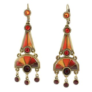 <img class='new_mark_img1' src='https://img.shop-pro.jp/img/new/icons24.gif' style='border:none;display:inline;margin:0px;padding:0px;width:auto;' />50%OFF Michal Negrin - イヤリング・ピアス/HEATH EARRINGS(オレンジ×レッド)