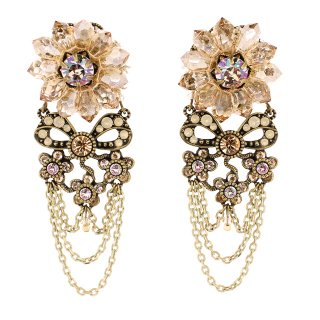 <img class='new_mark_img1' src='https://img.shop-pro.jp/img/new/icons24.gif' style='border:none;display:inline;margin:0px;padding:0px;width:auto;' />40%OFF Michal Negrin - クリップイヤリング/FLOWER RIBBON EARRINGS(シルク)
