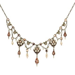 <img class='new_mark_img1' src='https://img.shop-pro.jp/img/new/icons24.gif' style='border:none;display:inline;margin:0px;padding:0px;width:auto;' />30%OFF Michal Negrin - ネックレス/SHIRIN NECKLACE(ピーチ×パール)