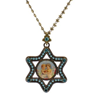 Michal Negrin - ネックレス/ESTER CAMEO NECKLACE(エンジェル:ターコイズ)