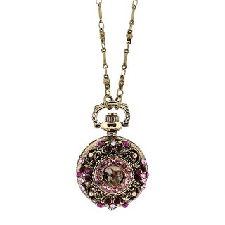 Michal Negrin - ウォッチネックレス/NINA ROCKET WATCH NECKLACE(レッド×ピンク)