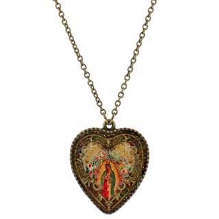 Michal Negrin - ネックレス/VICTORIAN HEART CAMEO NECKLACE(マリア様)