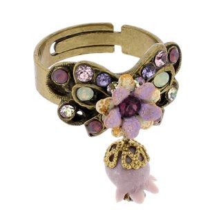 <img class='new_mark_img1' src='https://img.shop-pro.jp/img/new/icons5.gif' style='border:none;display:inline;margin:0px;padding:0px;width:auto;' />Michal Negrin - リング/鈴蘭×リボン(パープル×ミント×クリア)