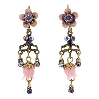 <img class='new_mark_img1' src='https://img.shop-pro.jp/img/new/icons5.gif' style='border:none;display:inline;margin:0px;padding:0px;width:auto;' />Michal Negrin - イヤリング・ピアス/LILY FLOWER EARRINGS(ヴィト×パープル×ピンク)