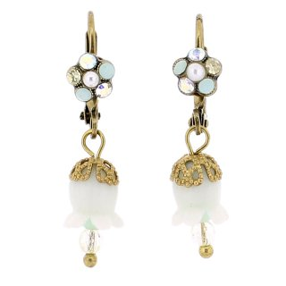 <img class='new_mark_img1' src='https://img.shop-pro.jp/img/new/icons5.gif' style='border:none;display:inline;margin:0px;padding:0px;width:auto;' />Michal Negrin - イヤリング・ピアス/鈴蘭(ホワイト×イエロー×ミント)