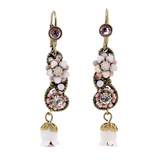 <img class='new_mark_img1' src='https://img.shop-pro.jp/img/new/icons5.gif' style='border:none;display:inline;margin:0px;padding:0px;width:auto;' />Michal Negrin - イヤリング・ピアス/鈴蘭×ミニフラワー(ホワイト×ライトアメ×ピンク)
