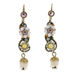 <img class='new_mark_img1' src='https://img.shop-pro.jp/img/new/icons5.gif' style='border:none;display:inline;margin:0px;padding:0px;width:auto;' />Michal Negrin - イヤリング・ピアス/鈴蘭×ミニフラワー(イエロー×ミント×ホワイト)