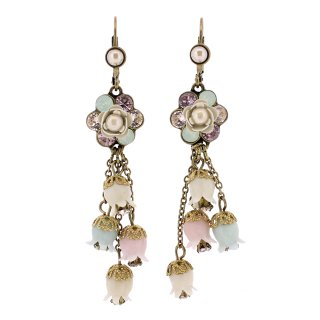<img class='new_mark_img1' src='https://img.shop-pro.jp/img/new/icons5.gif' style='border:none;display:inline;margin:0px;padding:0px;width:auto;' />Michal Negrin - イヤリング・ピアス/フラワー×鈴蘭(つやパール×ミント×ライトアメ)