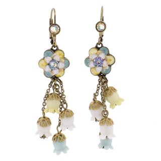 <img class='new_mark_img1' src='https://img.shop-pro.jp/img/new/icons5.gif' style='border:none;display:inline;margin:0px;padding:0px;width:auto;' />Michal Negrin - イヤリング・ピアス/フラワー×鈴蘭(イエロー×ミント×ホワイト)