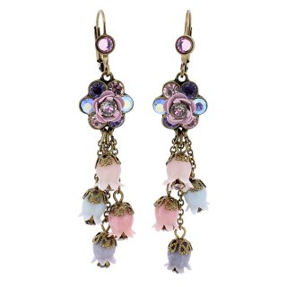 <img class='new_mark_img1' src='https://img.shop-pro.jp/img/new/icons5.gif' style='border:none;display:inline;margin:0px;padding:0px;width:auto;' />Michal Negrin - イヤリング・ピアス/フラワー×鈴蘭(ヴィト×パープル×ピンク)