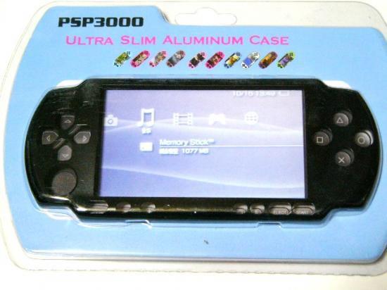 PSP-3000専用★本体保護アルミニウムケースカバー新品メタル黒