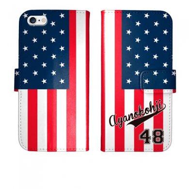 iPhone6s iPhone6 手帳型 星条旗 ユニフォーム 名入れ ケース カバー