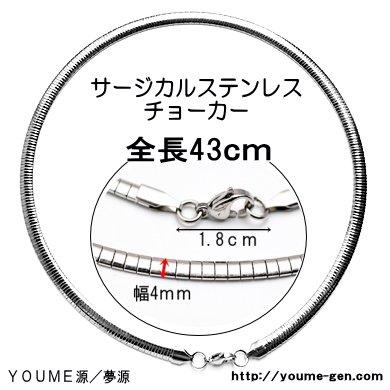 サージカルステンレスsteel316Lチョーカー43cm/チェーン幅4mm長さ41cm(109988538)