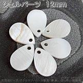 シービーズ・シェルパーツ トップチャーム シズク 8×12mm 厚さ約1.7mm 1個/10個(129505009)