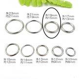 メタルリングパーツ・クローズリング ロジウムシルバー 外径19mm 内径15mm 線径2mm/1個から販売(139187638)