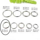 メタルリングパーツ・クローズリング ロジウムシルバー 外径15mm 内径12mm 線径1.5mm 1個/10個入(139190081)