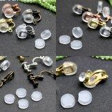 透明シリコンゴムクッションパーツ(横穴タイプ)痛くないイヤリングパーツ2個入/20個入(152263920)