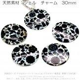 シェル(天然貝)チャーム コイン・サークル・プレート(ブラック)外径30mm 厚さ約2mm 穴径1.5mm 2個/20個(163390895)