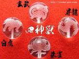 天然石パワーストーン水晶彫刻(四神彫刻)バラ売り,セット売り10mm[26509003]