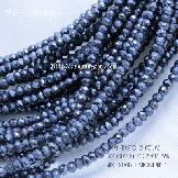 天然石ビーズ スピネル(尖晶石)宝石質AAA グレー 多面カットビーズ 3mm 半連約19cm〜【30851347】