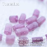 天然石ビーズ トルマリン(電気石)ピンク カットビーズ チューブ 6×6〜9mm 1粒〜【50023274】