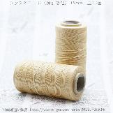 ろう引き糸(紐・ワックスコード)平たい糸0.9mm/220m入ロール巻売り/S005-3-No.19ベージュ色