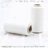 ろう引き糸(紐・ワックスコード) 平たい糸0.9mm/220m入巻売り 【S000-No.1白色】
