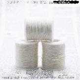 【麻/白】チャンルー風ラップブレスレット手作り材料:編み紐・編み糸0.4mm
