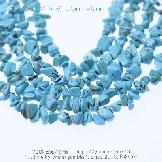 天然石ビーズ ターコイズ(トルコ石)ブルー 穴開きサザレビーズ 5〜8mm 10cm〜【51894915】