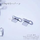 爪つき革紐かしめ (アクセサリーエンドパーツ金具) ロジウムシルバー(1組2個入)[57782395]