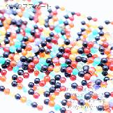 天然石ビーズ ミックスアゲート(混色瑪瑙)丸玉 ラウンドビーズ 6mm 5粒〜【64589627】