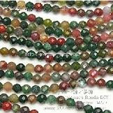 天然石ビーズ インディアンアゲート(瑪瑙)丸玉 64面ラウンドカットビーズ 6mm 5粒〜【64713776】