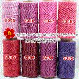 赤色系・ピンク色系・紫色系ろうびき糸0.9mm(ワックスコード)2mカットから切売り
