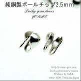 ボールチップ外径3.2mm シルバー(白銀色)2個から販売(73023552)