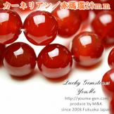 天然石ビーズ レッドアゲート(赤瑪瑙)大玉 カーネリアン ラウンドビーズ 20mm 1粒〜【73308283】