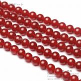 天然石ビーズ レッドアゲート(赤瑪瑙)丸玉 カーネリアン 6mm 2粒〜【82000365】
