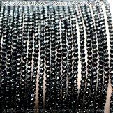 天然石ビーズ スピネル(尖晶石)宝石質AAA ブラック ラウンドカットビーズ 約2.5mm 10粒〜【83582643】