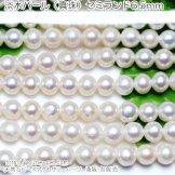 淡水パール(真珠)ホワイト セミラウンド6.5mm 1粒/10粒/50粒(87069234)